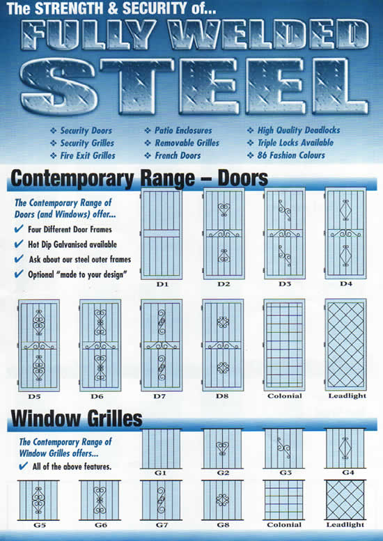 Welded Steel Security Design illustrations - Page 1 (page 2)  sc 1 st  Marlin Security and Window Furnishings & Welded Steel Doors Screens Grilles Brisbane \u2013 Marlin Security and ...
